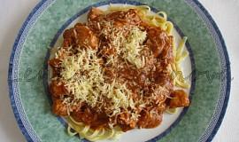 Králičí kostky se špagetami