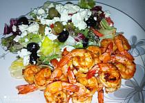 Krevety na česneku a bílém víně