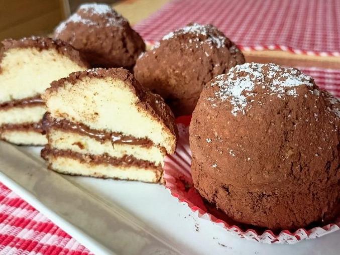 Piškotové dortíčky s Nutellou a rumem, Piškotové dortíčky s nutelou a rumem