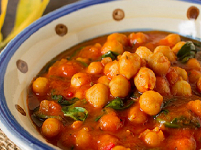 Podzimní cizrnové curry s rajčaty a špenátem podle The 1:1 Diet, Cizrnové curry s rajčaty a špenátem