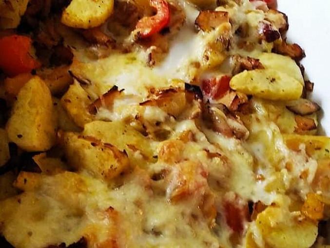 Zapečené bramborové knedlíky, Zapečené bramborové knedlíky