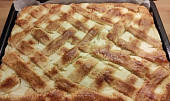 Bramborový koláč s tvarohem
